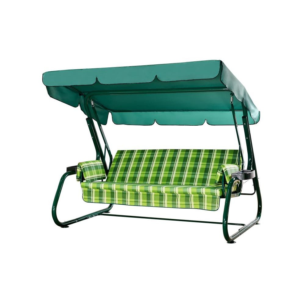 Садовые качели МебельСад Куба зеленый