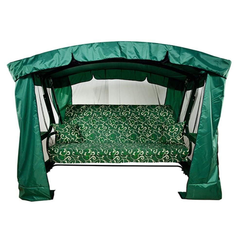 Садовые качели МебельСад Мадагаскар зеленый вензель