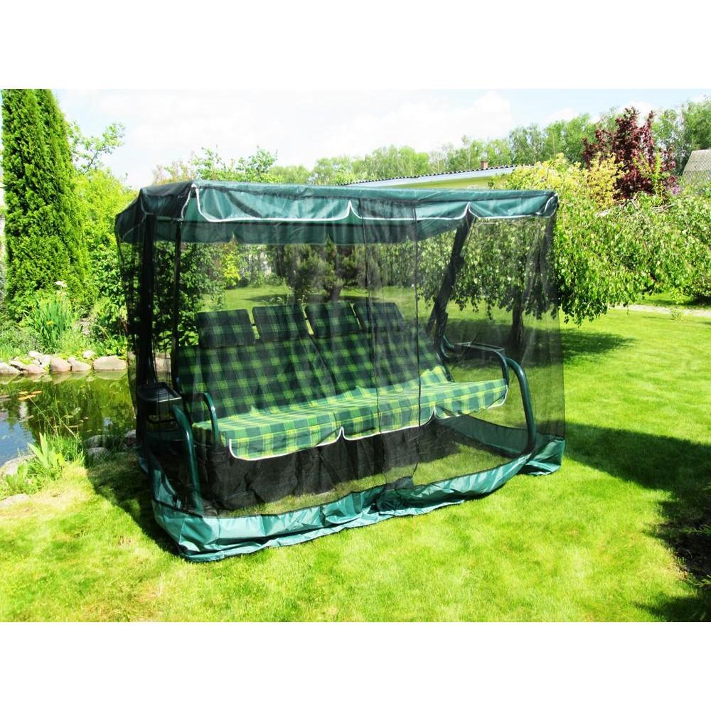 Противомоскитная сетка для садовых качелей зеленая