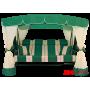 Садовые качели Arno Werk Эдем Люкс 76 (зеленый с зеленым каркасом)