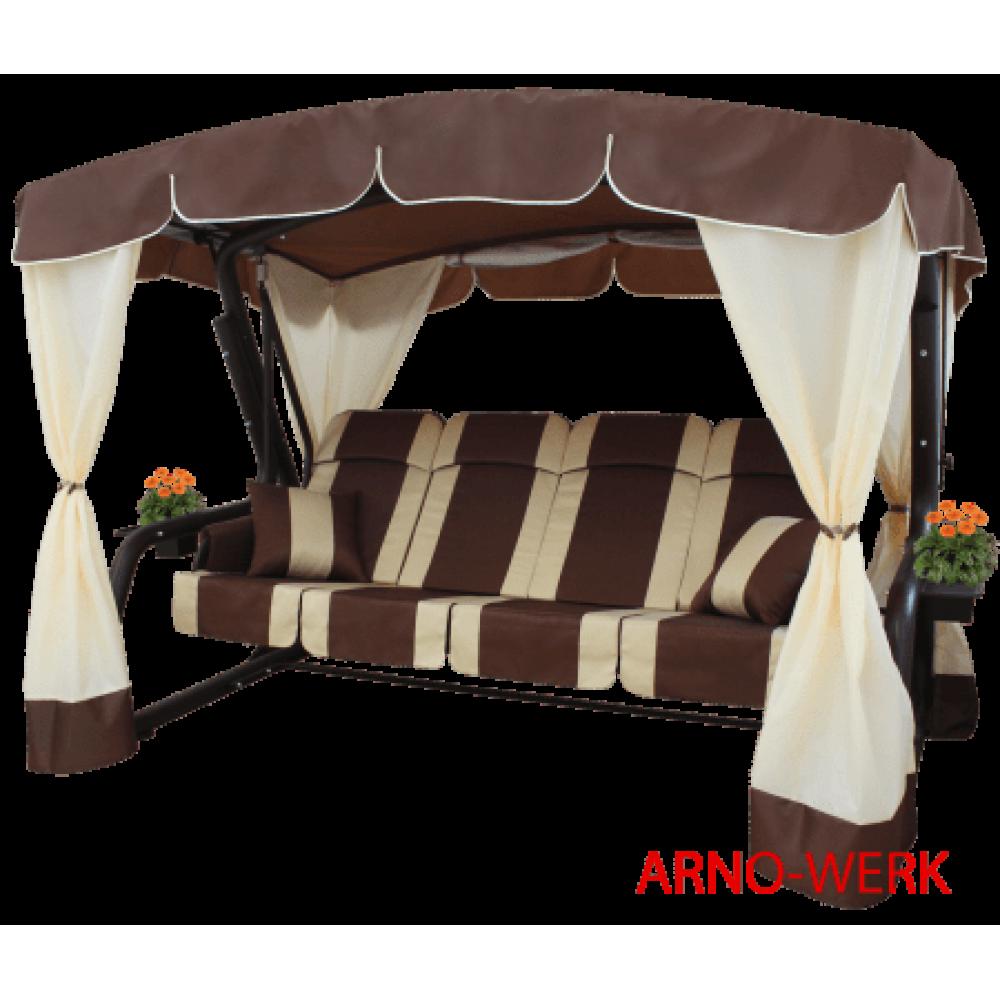Садовые качели Arno Werk Эдем Люкс 76 (шоколад с коричневым каркасом)