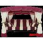 Садовые качели Arno Werk Эдем Люкс 76 (бордо с бордовым каркасом)