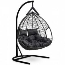 Подвесное кресло-кокон Laura Outdoor Fisht черный/черный