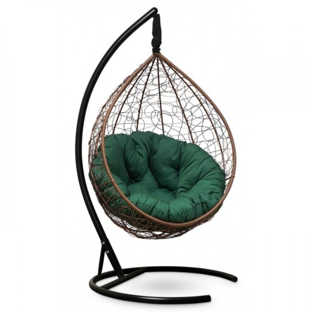 Подвесное кресло-кокон Sevilla Verde горячий шоколад/зеленый