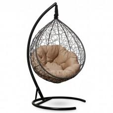 Подвесное кресло-кокон Sevilla Verde черный/бежевый