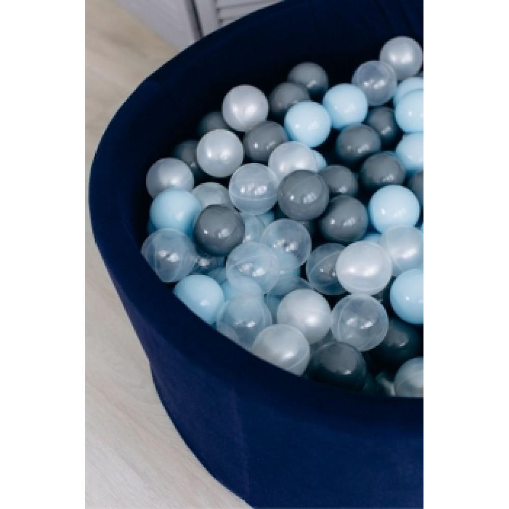 Сухой бассейн Airpool Романа ДМФ-МК-02.53.01 (тёмно-синий с серыми шариками)
