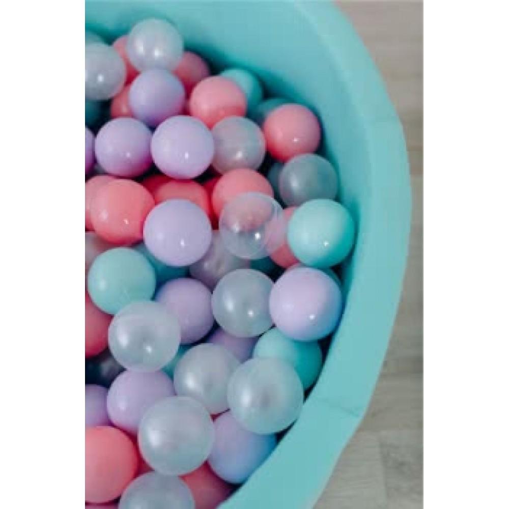 Сухой бассейн Airpool Романа ДМФ-МК-02.53.01 (бирюзовый с розовыми шариками)