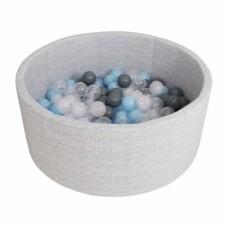 Сухой бассейн Airpool Романа ДМФ-МК-02.53.01 (серый с серыми шариками)