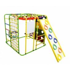 Спортивно-игровой комплекс Формула здоровья Кубик У Плюс салатовый/радуга