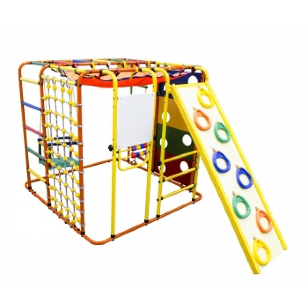 Спортивно-игровой комплекс Формула здоровья Кубик У Плюс оранжевый/радуга