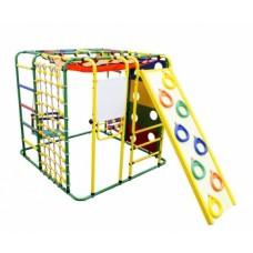 Спортивно-игровой комплекс Формула здоровья Кубик У Плюс зелёный/радуга