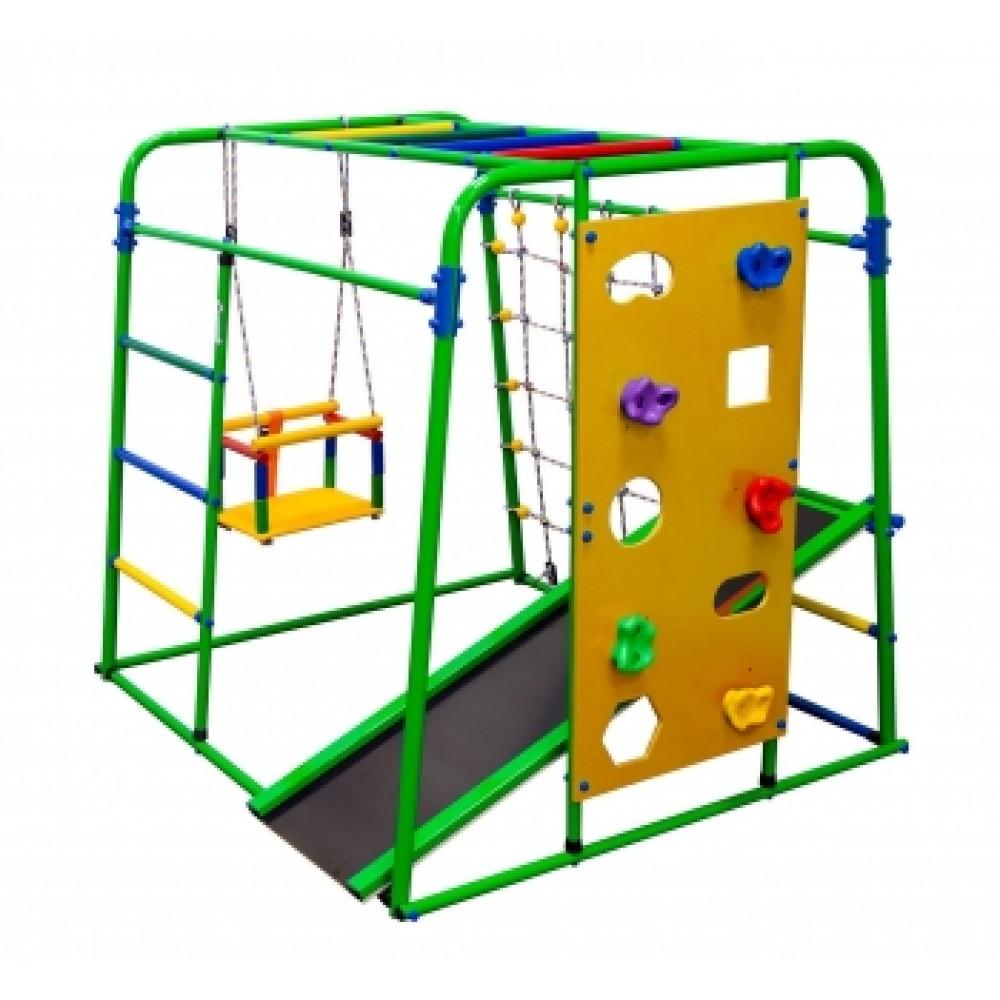 Спортивно-игровой комплекс Формула здоровья Start baby 2 Плюс салатовый/радуга