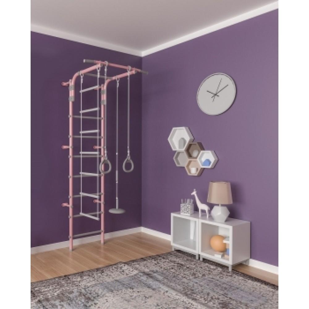 Шведская стенка Формула здоровья Pastel 2 розовый/серый