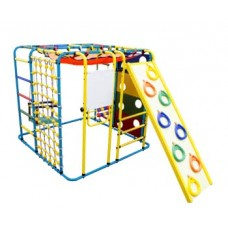 Спортивно-игровой комплекс Формула здоровья Кубик У Плюс голубой/радуга