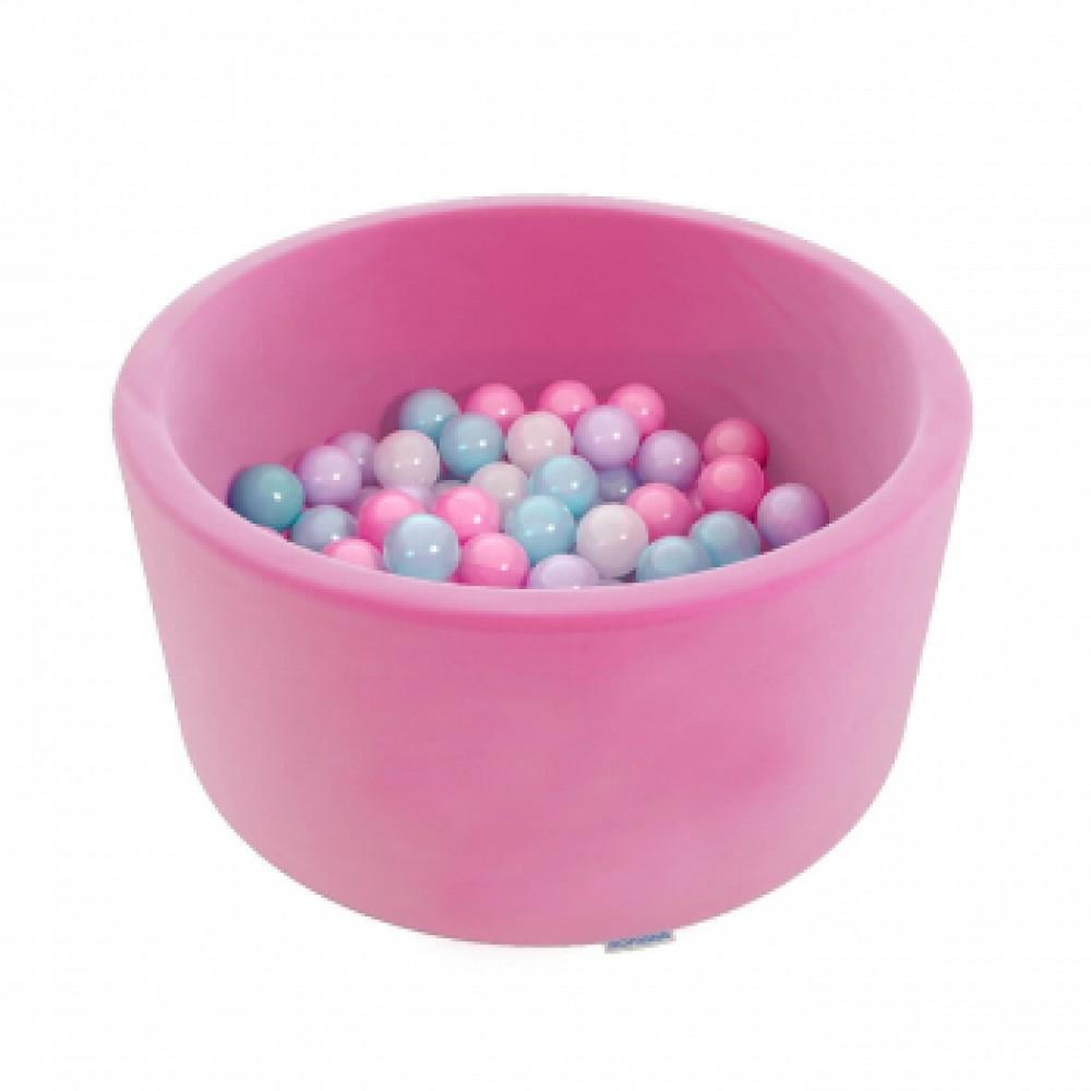Сухой бассейн Romana Easy ДМФ-МК-02.53.03 розовый с розовыми шариками
