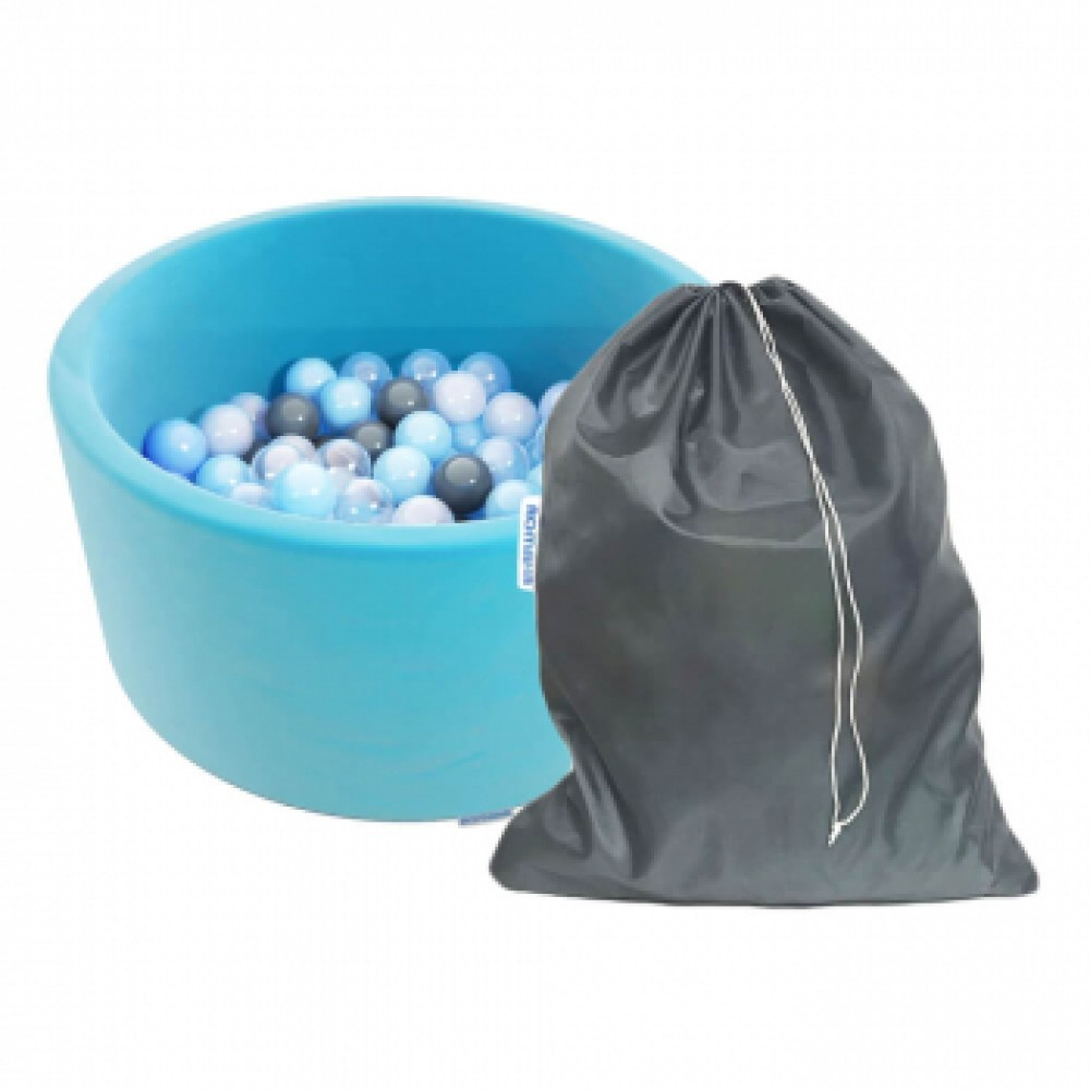Сухой бассейн Romana Easy ДМФ-МК-02.53.03 бирюзовый с серыми шариками