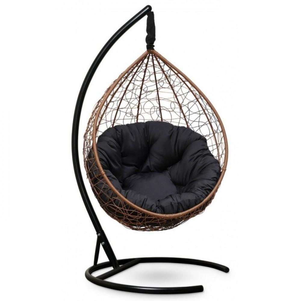Подвесное кресло-кокон Sevilla Verde горячий шоколад/черный