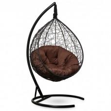 Подвесное кресло-кокон Sevilla Verde черный/коричневый