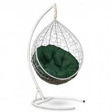 Подвесное кресло-кокон Sevilla Verde белый/зеленый