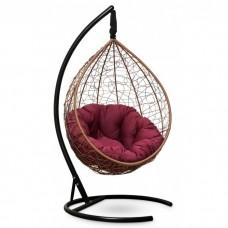Подвесное кресло-кокон Sevilla Verde горячий шоколад/бордовый