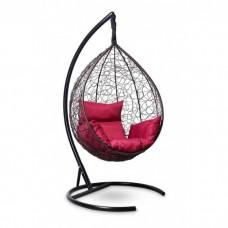 Подвесное кресло-кокон Sevilla коричневый/бордовый