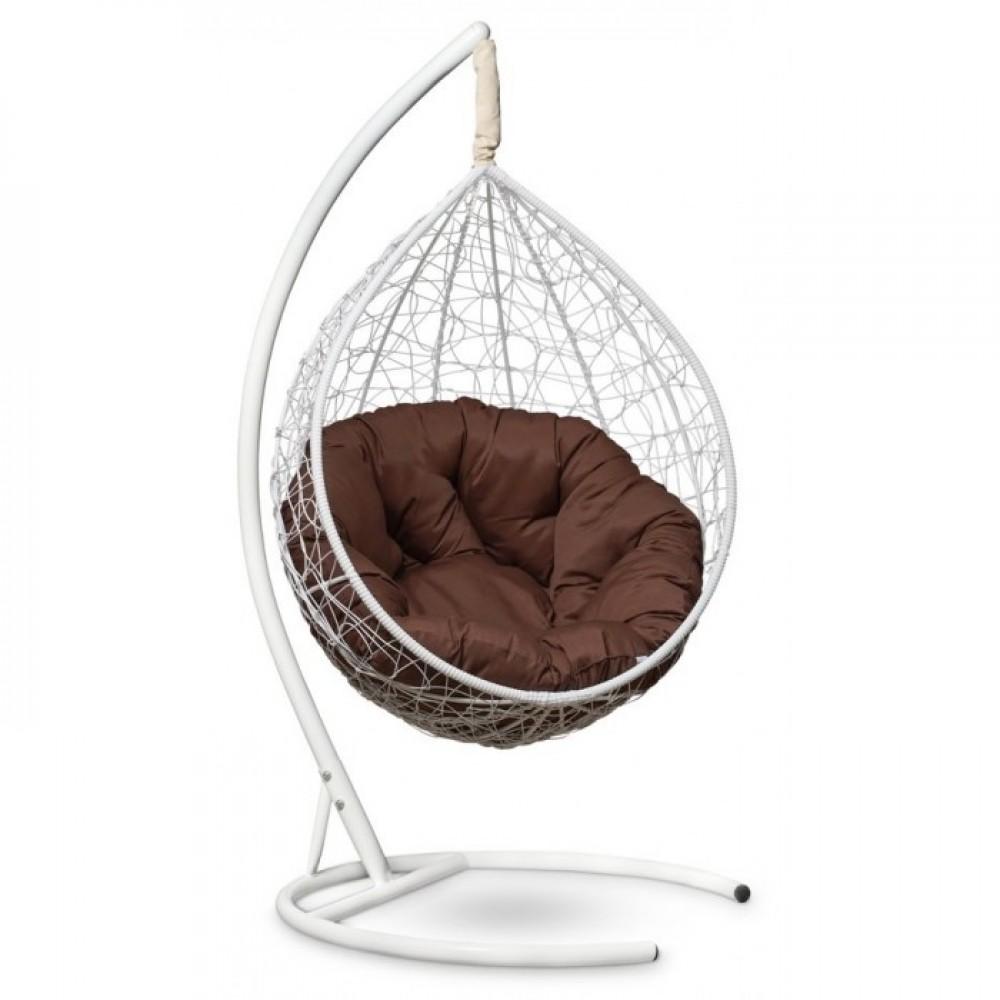 Подвесное кресло-кокон Sevilla Verde белый/коричневый