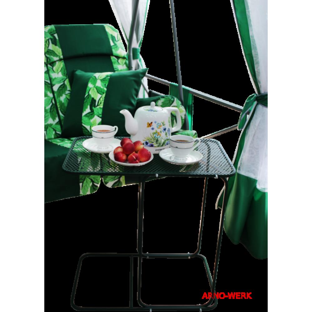 Беседка качели Arno Werk Премиум со столиком (зеленая)