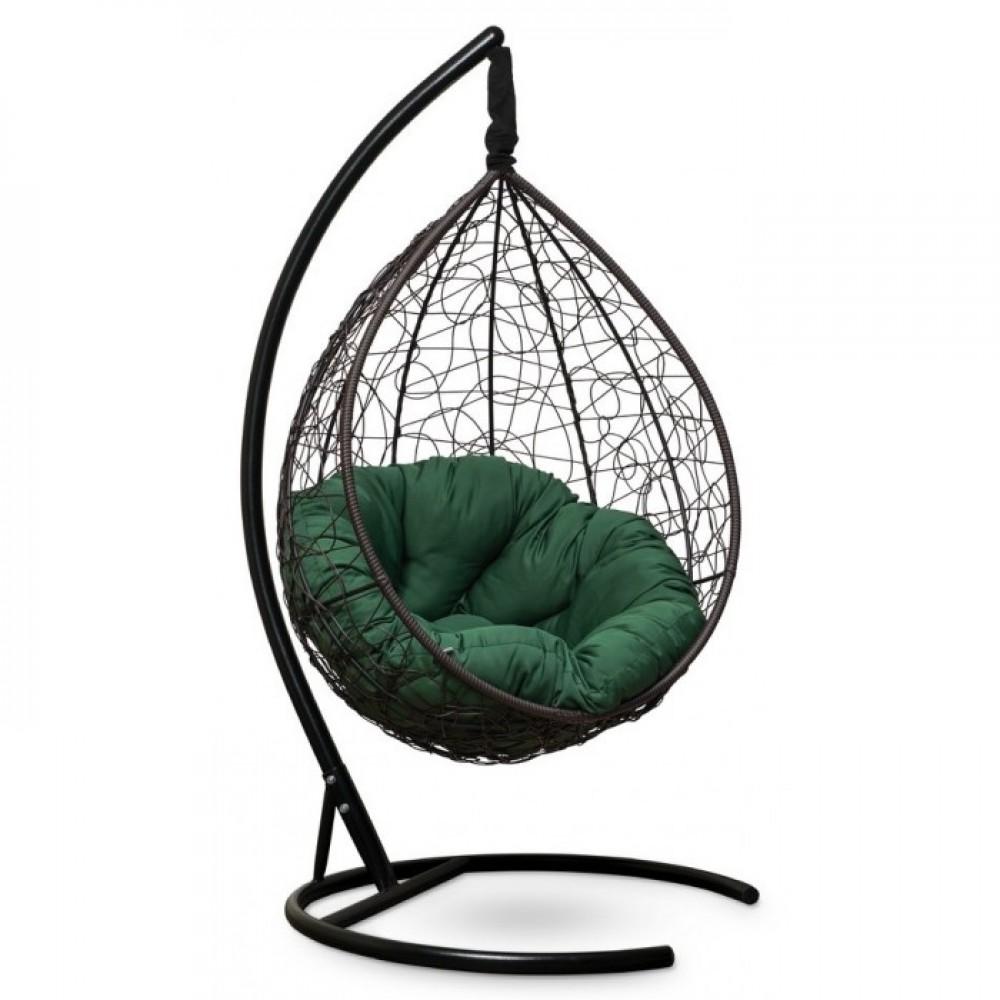Подвесное кресло-кокон Sevilla Verde коричневый/зеленый