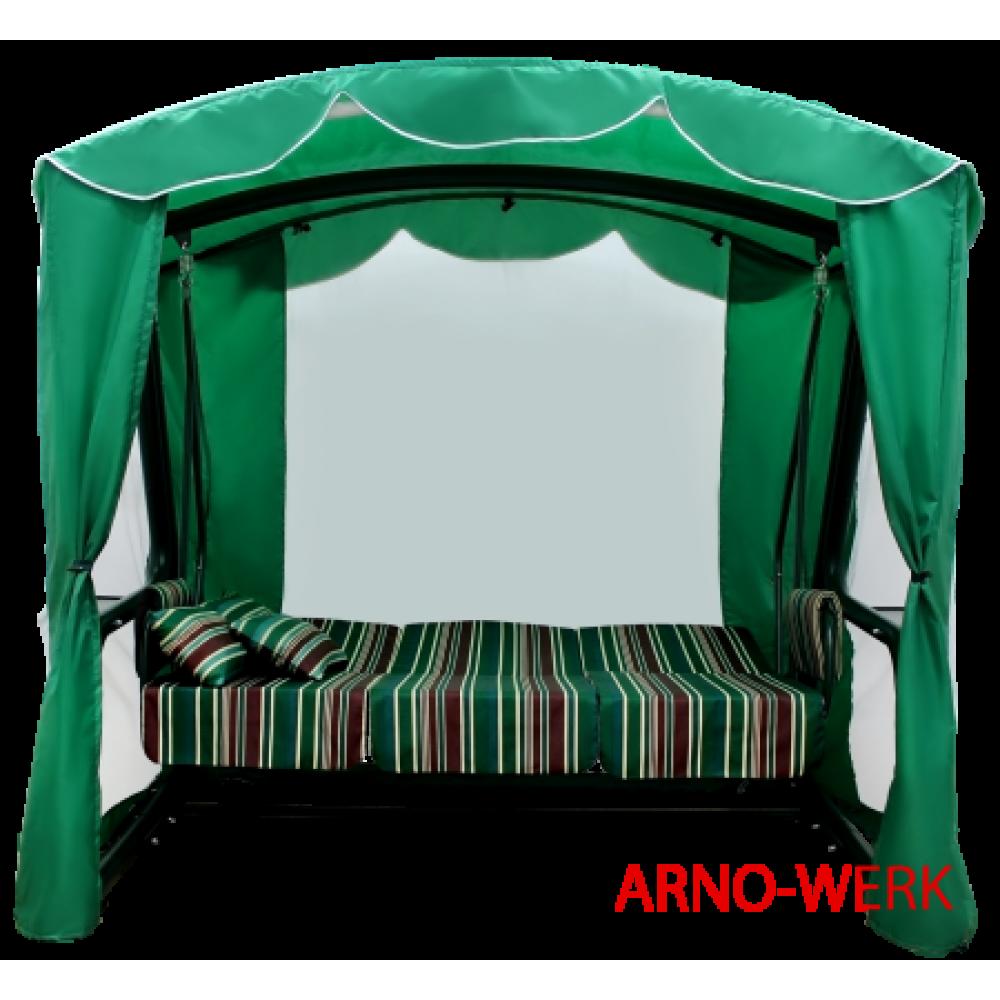 Садовые качели Arno Werk Элит Люкс зеленый