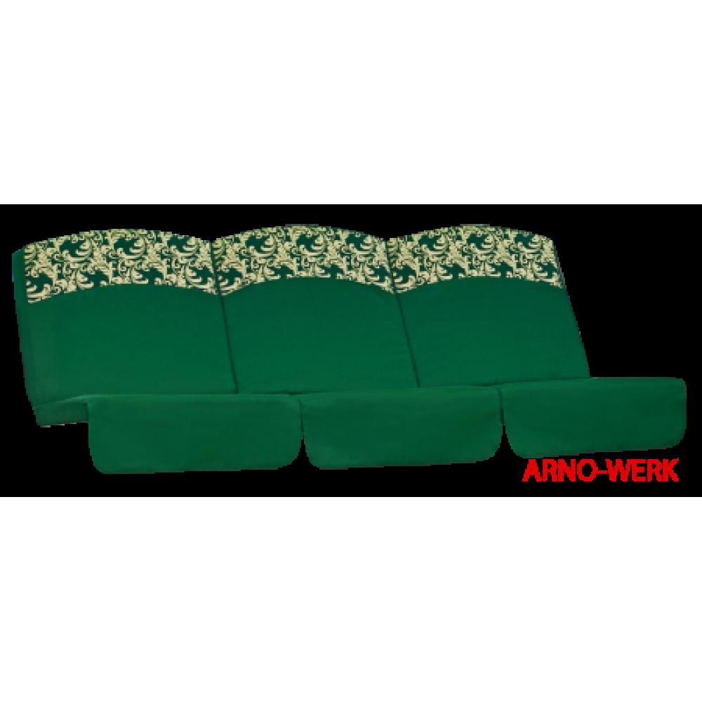 Подушка-кресло для 3-х местных качелей Оазис Люкс зеленые