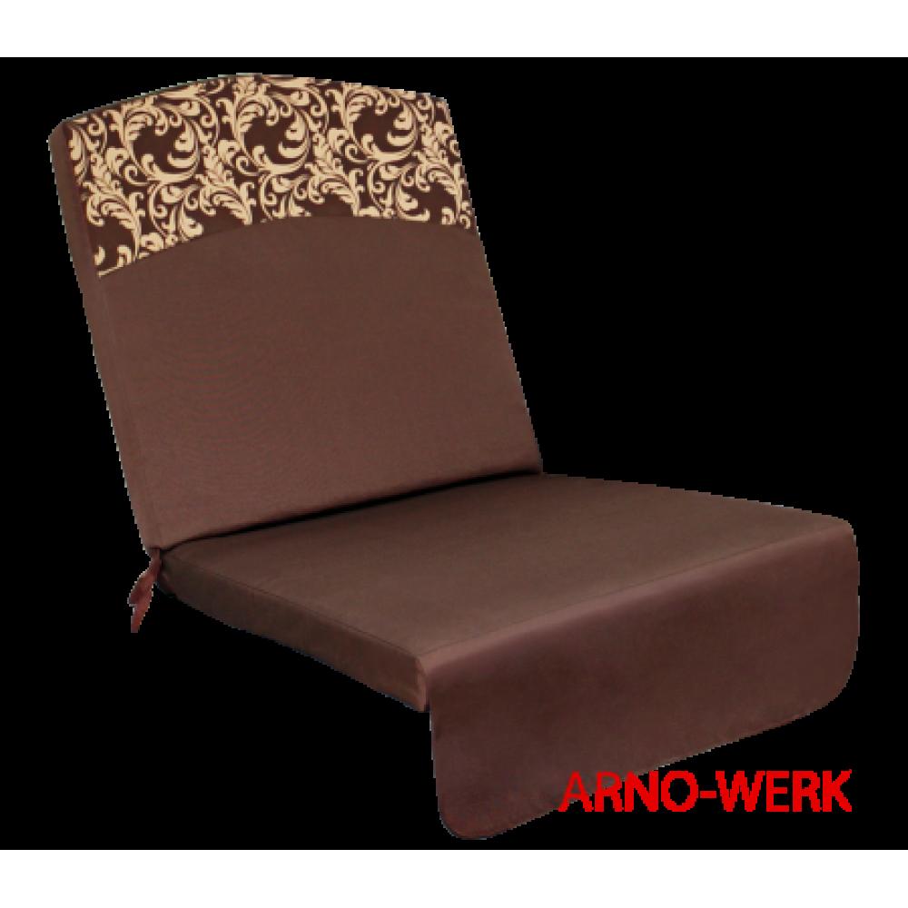 Подушка-кресло для 3-х местных качелей Оазис Люкс шоколад