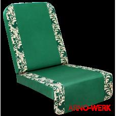 Подушка-кресло для 4-х местных качелей Оазис Люкс Плюс (Оазис Стандарт+) Зеленые