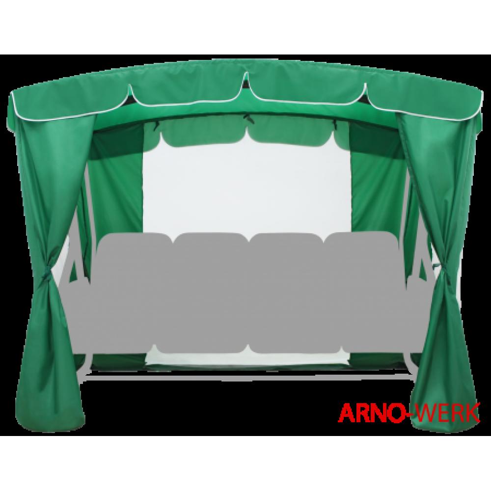 Тент для 4-х местных качелей Оазис Люкс Плюс зеленый