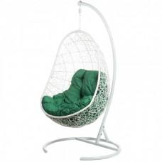 Подвесное кресло BiGarden Easy white (зеленая подушка)