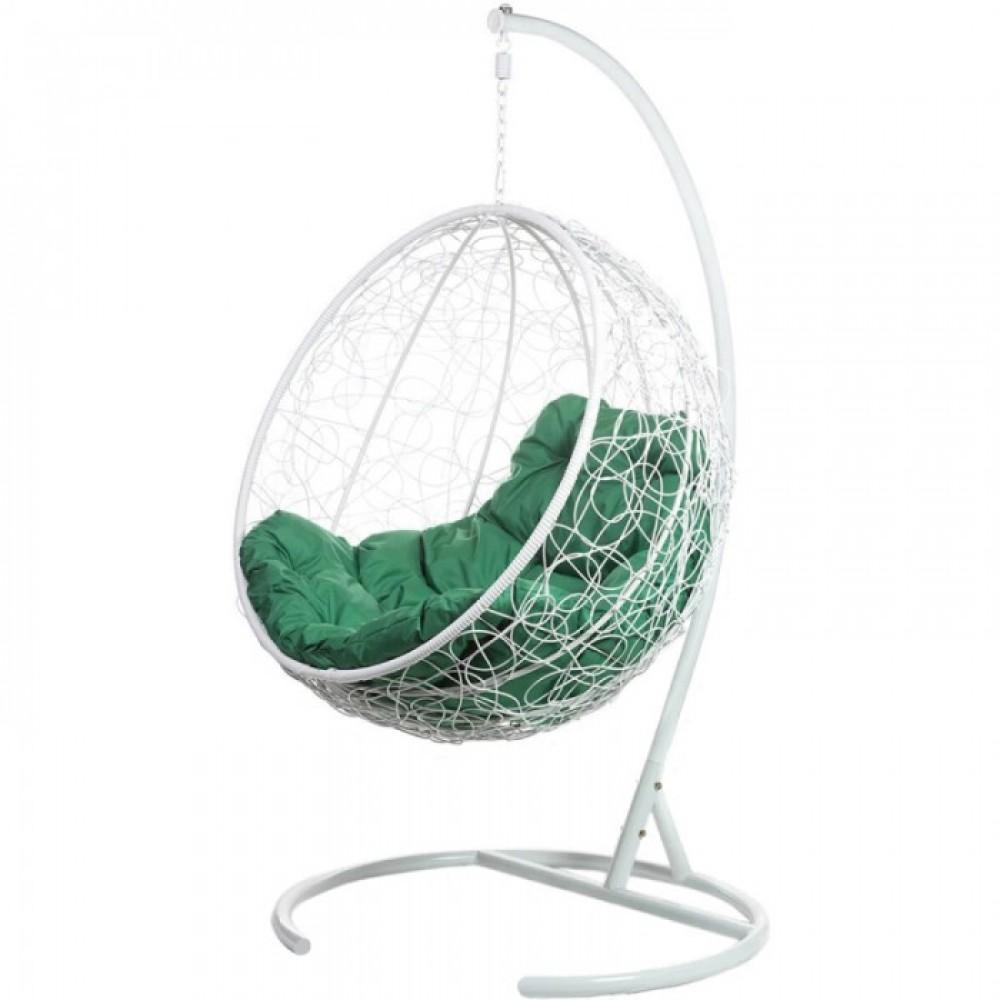 Подвесное кресло BiGarden Kokos White (зеленая подушка)