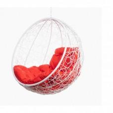 Подвесное кресло BiGarden Kokos White BS без стойки (красная подушка)