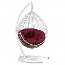 Подвесное кресло-кокон Sevilla Verde белый/бордовый