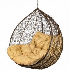 Двойное подвесное кресло BiGarden Gemini brown BS (БЕЗ СТОЙКИ)