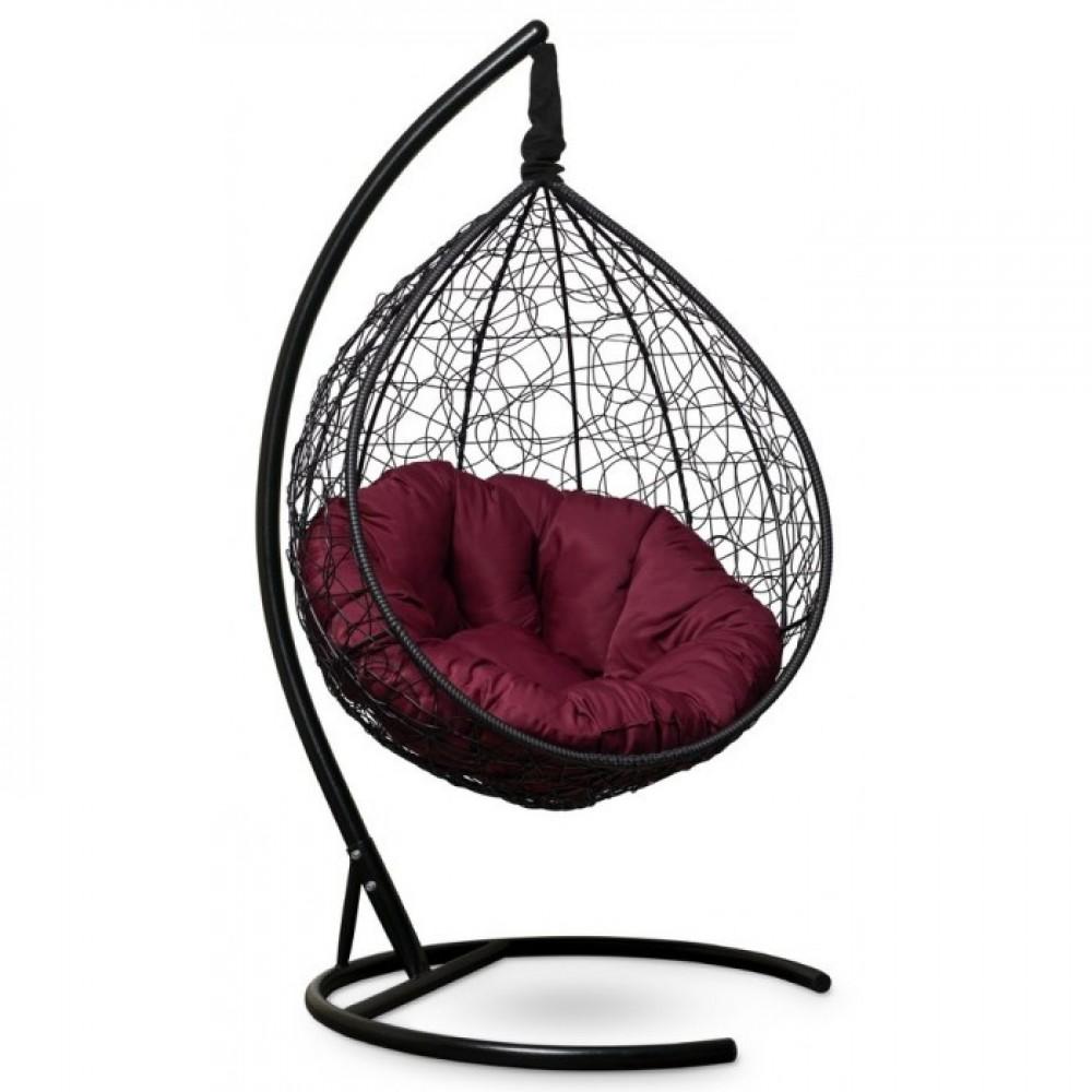 Подвесное кресло-кокон Sevilla Verde черный/бордовый