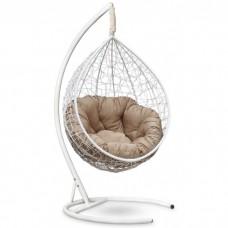Подвесное кресло-кокон Sevilla Verde белый/бежевый