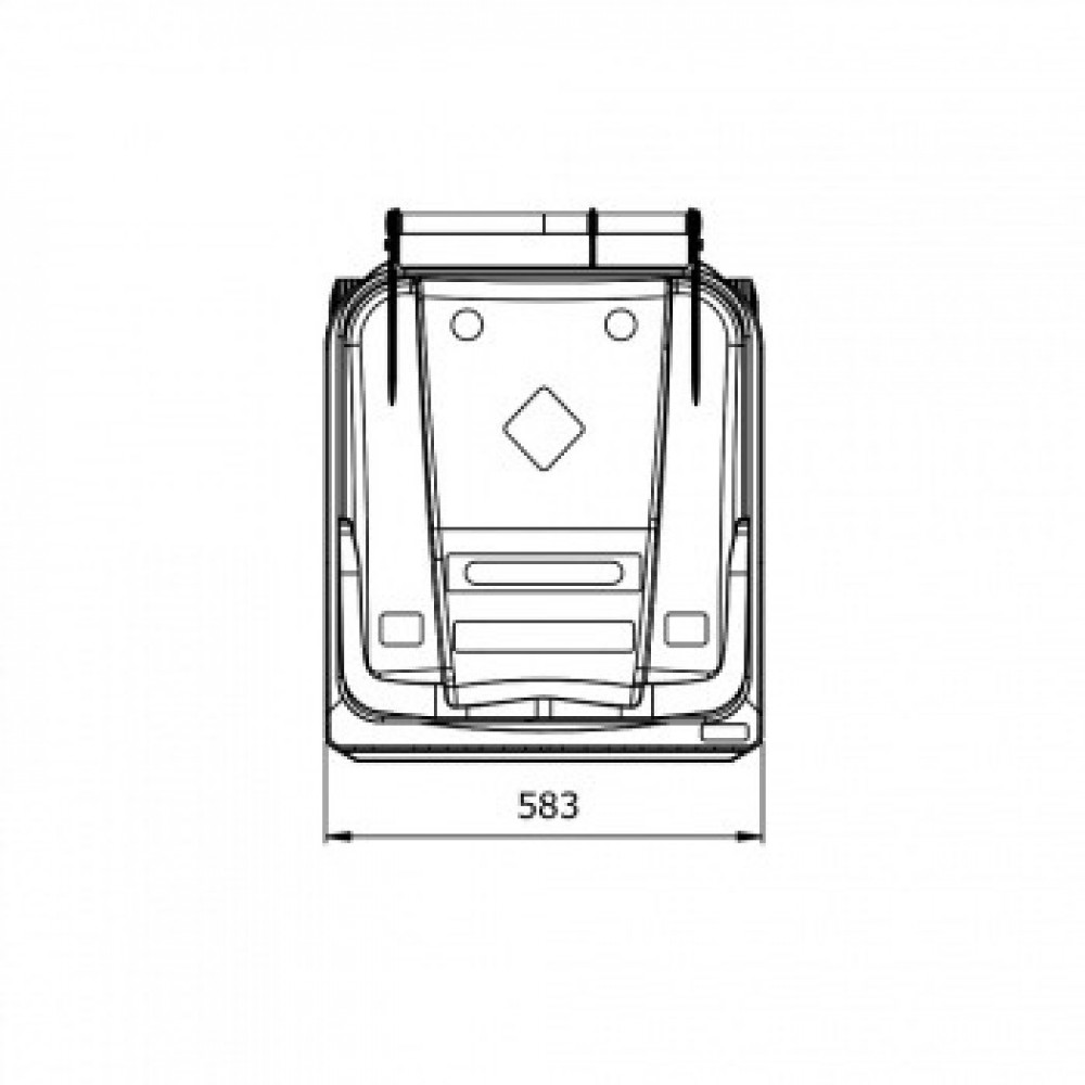 Мусорный контейнер ESE 240 л желтый