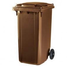 Мусорный контейнер ESE 240 л коричневый