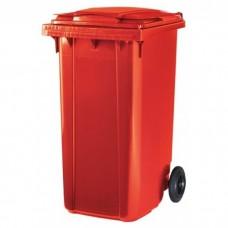 Мусорный контейнер ESE 240 л красный