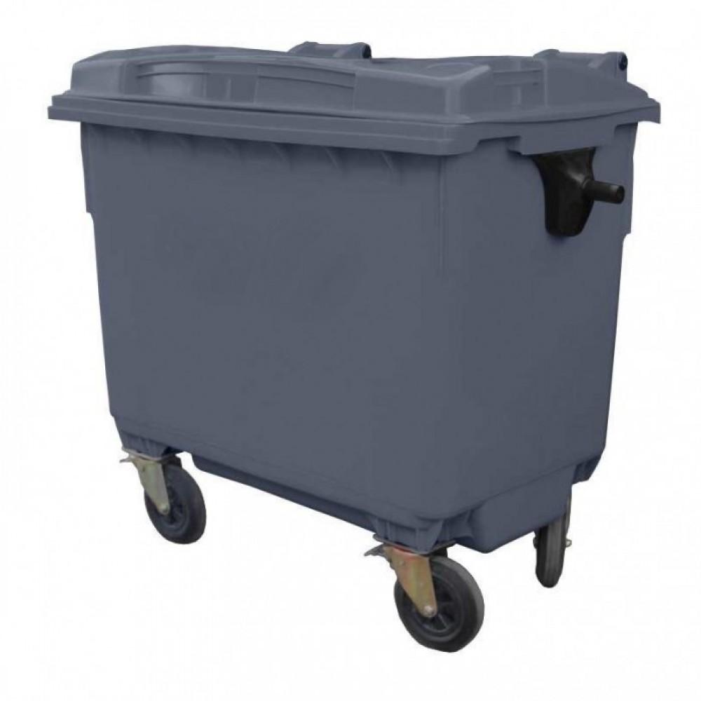Контейнер для мусора пластиковый 660 л серый, Иран