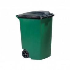 Контейнер для мусора на колесах REFUSE CONTAINER 100 л, зелёный/черный