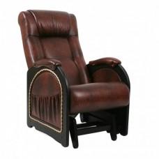 Кресло глайдер Комфорт Модель 48 венге с лозой/ Antik crocodile