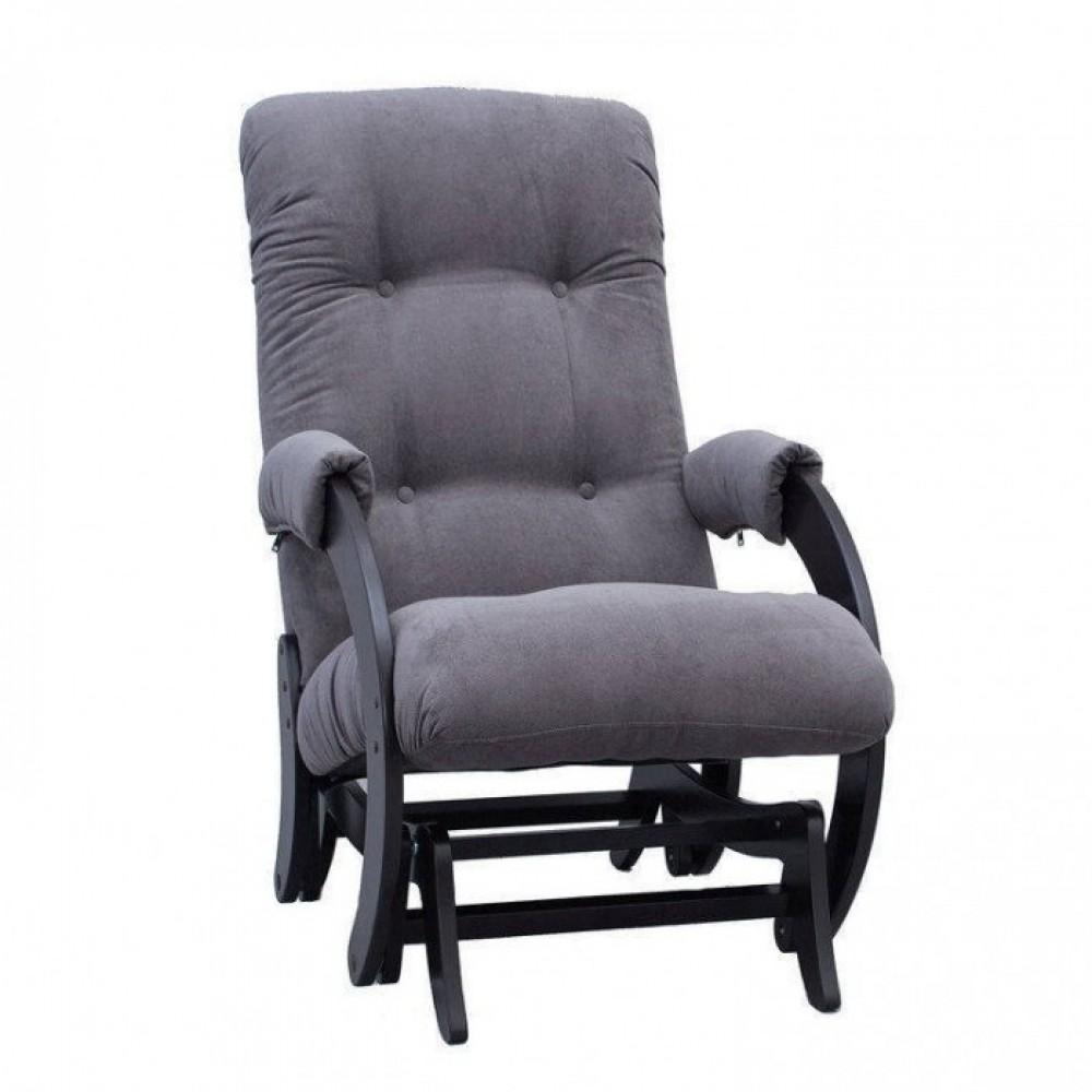 Кресло глайдер Комфорт Модель 68 венге/ Verona Antrazite Grey