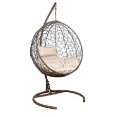 Подвесное кресло LESET Луна коричневое