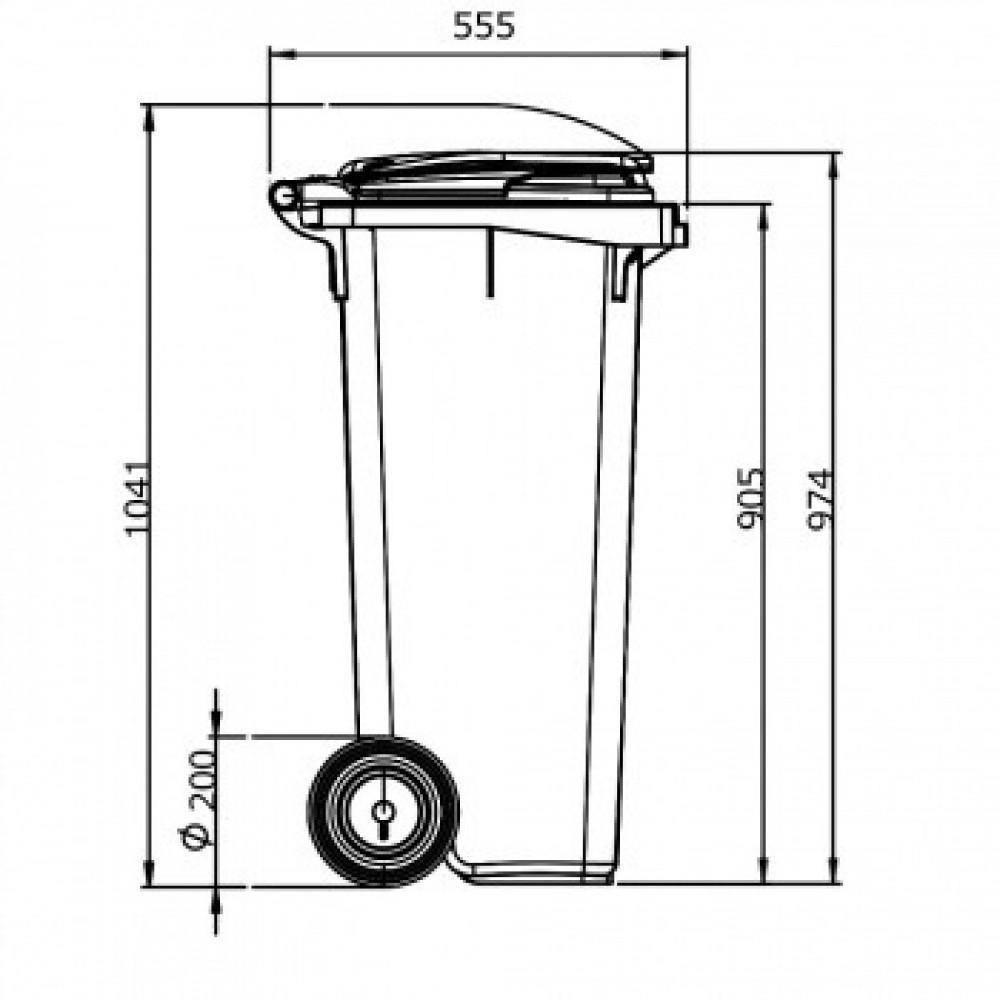 Мусорный контейнер ESE 120 л серый