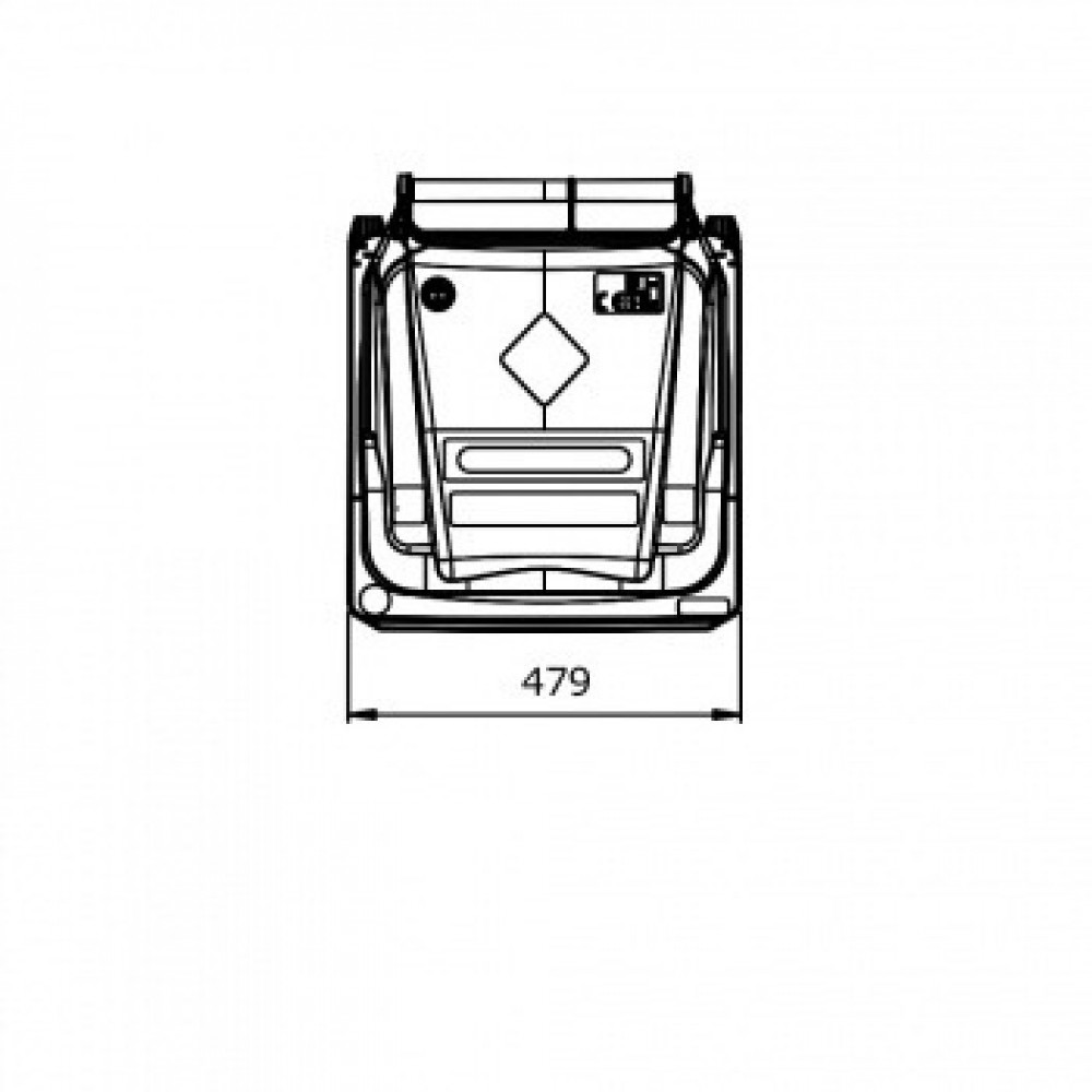 Мусорный контейнер ESE 120 л синий